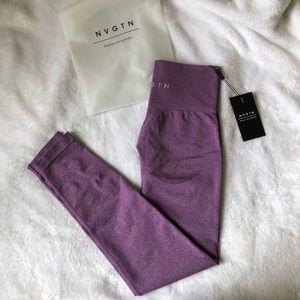 NVGTN violet contour leggings